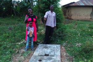 The Water Project: Emusanda Community, Walusia Spring -  Sanitation Platform