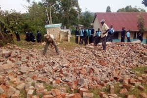 The Water Project: Esibeye Secondary School -  Broken Down Latrines