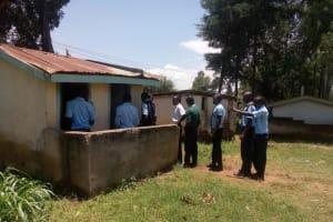 The Water Project: Gidagadi Secondary School -  Shared Latrines