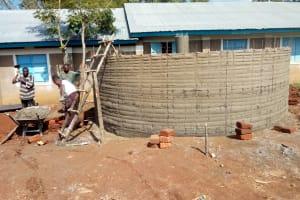 The Water Project: Emukhalari Primary School -  Tank Construction