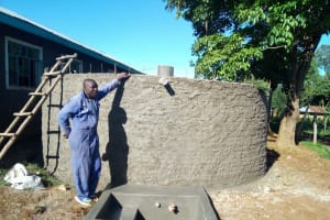 The Water Project: Irenji Primary School -  Tank Construction