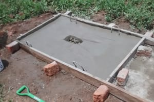 The Water Project: Shitoto Community, Laurence Spring -  Sanitation Platform Construction