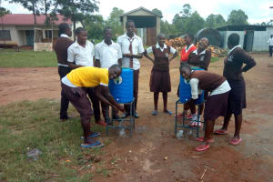 The Water Project: Mwitoti Secondary School -  Hand Washing Stations