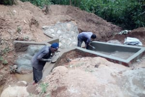 The Water Project: Gidagadi Community, Anusu Spring -  Construction