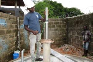 The Water Project: New London Community, Magburaka Road -  Pump Installation