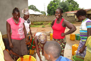 The Water Project: Kasongha Community, 16 Komrabai Road -  Yield Testing
