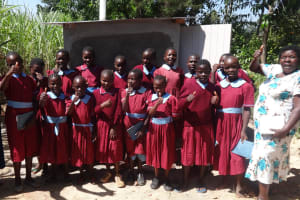 The Water Project: Emulakha Primary School -  Finished Latrines