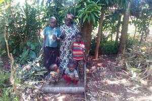 The Water Project: Simuli Community, Lihala Sifoto Spring -  Sanitation Platform