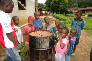 The Water Project: Mayaya Village A -  Testing Well Yield