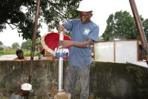 The Water Project: Kasongha Community, 16 Komrabai Road -  Pump Installation