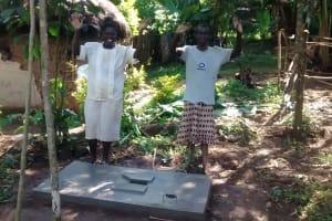 The Water Project: Ematiha Community, Ayubu Spring -  Sanitation Platform