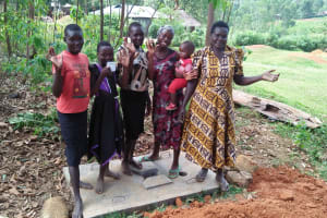The Water Project: Isese Community, Sylvanus Spring -  Finished Sanitation Platforms