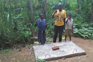 The Water Project: Shitoto Community, Laurence Spring -  Finished Sanitation Platforms