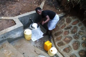 The Water Project: Emusanda Community, Walusia Spring -  Clean Water