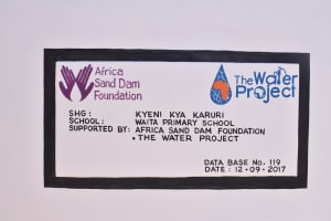 The Water Project: Waita Primary School -  Finished Tank