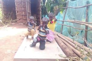 The Water Project: Gidagadi Community, Anusu Spring -  Finished Sanitation Platforms