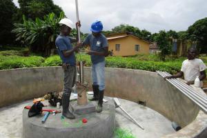 The Water Project: Mayaya Village A -  Pump Installation