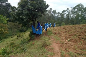 The Water Project: Sabane Primary School -  Off To Fetch Water
