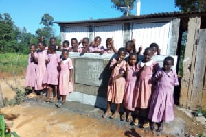 The Water Project: Irenji Primary School -  Finished Latrines