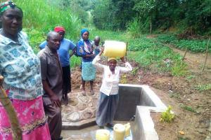 The Water Project: Mungulu Community, Zikhungu Spring -  Clean Water