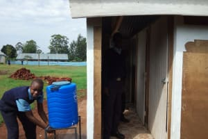 The Water Project: Ebubayi Secondary School -  Finished Latrines