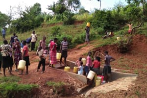 The Water Project: Isese Community, Sylvanus Spring -  Clean Water