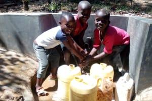 The Water Project: Mkunzulu Community, Museywa Spring -  Clean Water