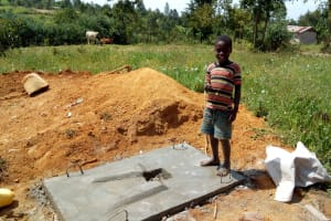 The Water Project: Futsi Fuvili Community, Shikanga Spring -  Sanitation Platforms