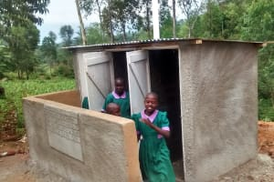 The Water Project: Chandolo Primary School -  Finished Latrines