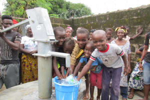 The Water Project: New London Community, Magburaka Road -  Clean Water