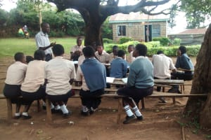 The Water Project: Erusui Secondary School -  Class Under Tree