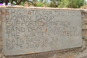 The Water Project: Nzalae Community -  Finished Sand Dam