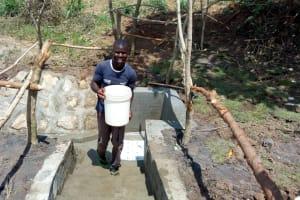 The Water Project: Futsi Fuvili Community, Shikanga Spring -  Clean Water