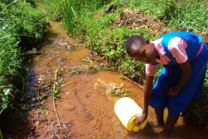 The Water Project: Mudete Primary School -  Fetching Water