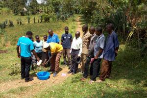 The Water Project: Futsi Fuvili Community, Shikanga Spring -  Hand Washing Training