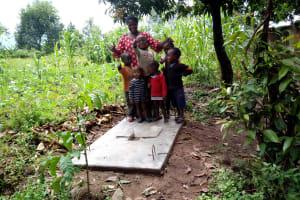 The Water Project: Shitungu Community, Mmbone Spring -  Finished Sanitation Platform