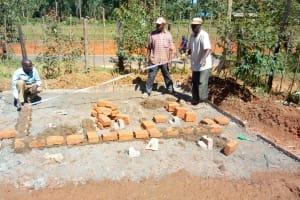 The Water Project: Shanjero Primary School -  Latrine Construction