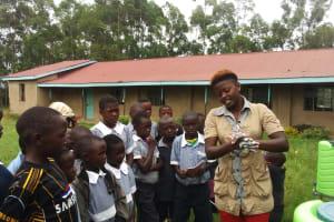 The Water Project: St. Antony Shijiko Primary School -  Hand Washing Training