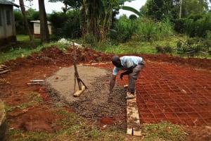 The Water Project: Ebubayi Secondary School -  Tank Foundation