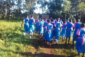 The Water Project: Mudete Primary School -  Rush To The Latrines