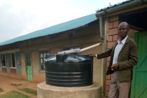 The Water Project: Mutsuma Secondary School -  Staff Water Tank