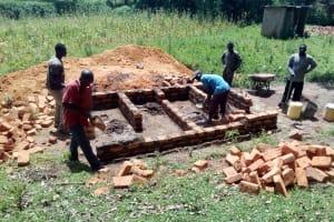 The Water Project: Muhudu Primary School -  Latrine Construction