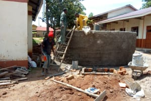 The Water Project: Mwitoti Secondary School -  Tank Construction