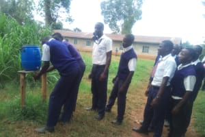The Water Project: Malimili Secondary School -  Hand Washing Station