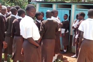 The Water Project: Womulalu Secondary School -  Latrines