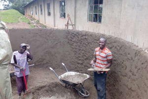The Water Project: Muhudu Primary School -  Tank Construction