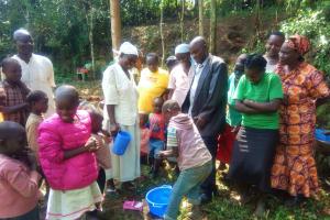 The Water Project: Mungulu Community, Zikhungu Spring -  Hand Washing