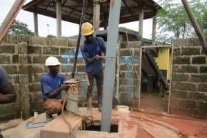 The Water Project: New London Community, Magburaka Road -  Drilling