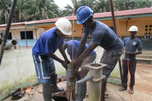 The Water Project: Gbaneh Bana SLMB Primary School -  Drilling