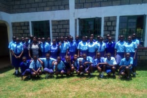 The Water Project: Eshisenye Girls Secondary School -  Group Picture